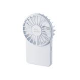 エレコム(ELECOM) 薄型ハンディファン FAN-U202WH ホワイト│生活家電 扇風機