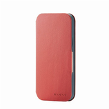 【iPhone12/iPhone12Pro】 エレコム(ELECOM) レザーケース ミニオ(MINIO)手帳型 6.1インチ PM-A20BPLFMINRD コーラルレッド×フォレストグリーン│携帯・スマホケース iPhoneケース