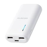 エレコム(ELECOM) 抗菌仕様モバイルバッテリー/6700mAh DE-C30L-6700WH ホワイト│携帯・スマホアクセサリー モバイルバッテリー・携帯充電器