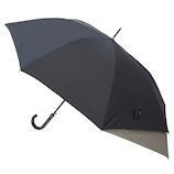 hands+ バックパックを守れるジャンプ長傘 65cm ブラック×グレー│hands+ウェザー hands+ 傘
