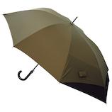 hands+ バックパックを守れるジャンプ長傘 65cm カーキ×ブラック│レインウェア・雨具 傘