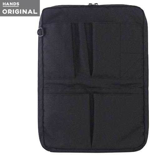 東急ハンズオリジナル スタンド型 バッグインバッグ 縦 ブラック