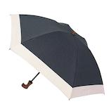 hands+ 1級遮光 新簡単開閉折りたたみ傘 50cm ネイビー/ベージュ
