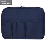 東急ハンズオリジナル スタンド型 バッグインバッグ 横 ネイビー│インナーバッグ
