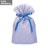 東急ハンズオリジナル リボン付きギフト袋 ブルーM