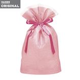東急ハンズオリジナル リボン付きギフト袋 ピンクM│ラッピング用品 ラッピング袋