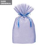東急ハンズオリジナル リボン付きギフト袋 ブルーL