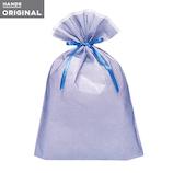 東急ハンズオリジナル リボン付きギフト袋 ブルーLL