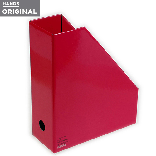 東急ハンズオリジナル ファイルボックスA4 タテ ピンク