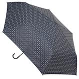 hands+ 軽量1級遮光日傘 折りたたみ傘 53cm ネイビードット│hands+ウェザー hands+ 折り畳み傘