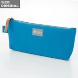 東急ハンズオリジナル 帆布フラットペンケース ターコイズ│ペンケース ペンケース・筆箱