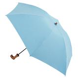 hands+ 1級遮光 新簡単開閉折りたたみ傘 50cm ブルー│レインウェア・雨具 折り畳み傘