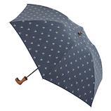 【先行販売】 hands+ 1級遮光 新簡単開閉折りたたみ傘 50cm カラフル小紋柄ネイビー│レインウェア・雨具 折り畳み傘