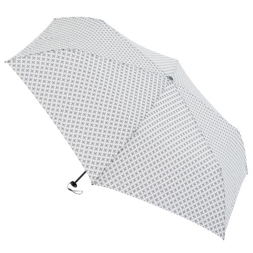 hands+ 超軽量簡単開閉折傘 54cm 小紋オフホワイト