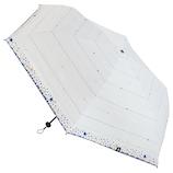 moz×東急ハンズ 一級遮光日傘 55cm ドットボーダーホワイト│レインウェア・雨具 日傘