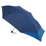 hands+ バックパックを守れる折傘 55cm ネイビー×ブルー│レインウェア・雨具 折り畳み傘