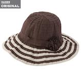 東急ハンズオリジナル たためる洗える帽子 グログランブレード ブラウン×グレージュ│リラックス・癒しグッズ 冷却グッズ
