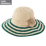 東急ハンズオリジナル たためる洗える帽子 グログランブレード ベージュ×グリーン│アウトドアウェア