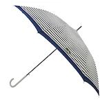 【ハンズメッセ2020】東急ハンズオリジナル 耐風長傘 60cm ネイビーボーダー<お届けまで約1〜2週間>