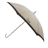 【ハンズメッセ2020】東急ハンズオリジナル 耐風長傘 60cm ブラウンボーダー<お届けまで約1〜2週間>
