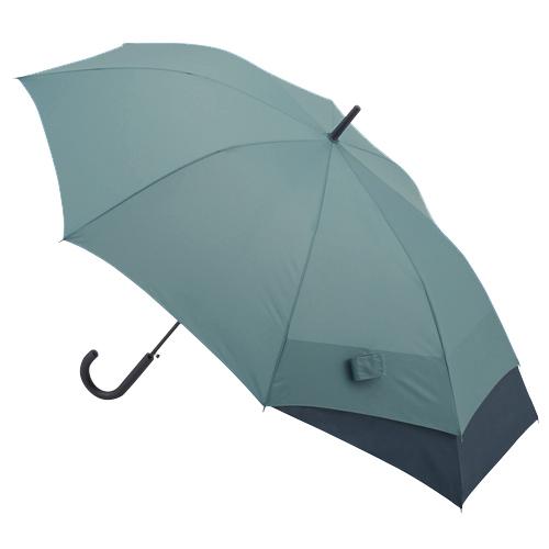 hands+ バックパックを守れるジャンプ長傘 65cm グリーン×ネイビー│hands+ウェザー hands+ 傘