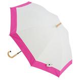 hands+ 1級遮光日傘 長傘 50cm ベージュ×ピンク│レインウェア・雨具 日傘