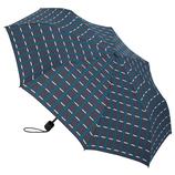 hands+ 風に強い簡単開閉 折りたたみ傘 55cm ターコイズチェック│hands+ウェザー hands+ 折りたたみ傘