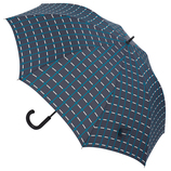 hands+ 風に強いジャンプ長傘 70cm ターコイズチェック│hands+ウェザー hands+ 傘