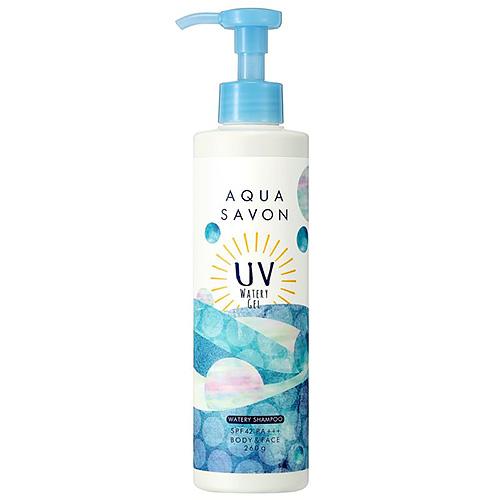 アクアシャボン UVジェル 19s ウォータリーシャンプーの香り SPF42 PA+++ 260g│ボディケア 日焼け止めスプレー・クリーム