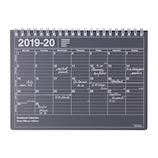 【2019年4月始まり】 マークス(MARKS) ノートブックカレンダーS B6 マンスリー 19SDR‐NB2‐BK ブラック 月曜始まり