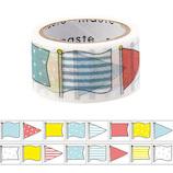 マークス(MARKS) maste 水性ペンで書けるマスキングテープ ミシン目入り マンスリー用 手帳デコ MST−FA11−D フラッグ