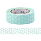 マークス(MARKS) maste 水性ペンで書けるマスキングテープ 小巻 MST−FA12−A ドット・ブルー