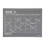 【2020年1月始まり】 マークス(MARKS) ノートブックカレンダー Mサイズ マンスリー ブラック 月曜始まり
