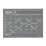 【2020年1月始まり】 マークス(MARKS) ノートブックカレンダー Sサイズ マンスリー ブラック 月曜始まり