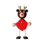 【クリスマス】 マークス(MARKS) 木の人形 ハート ハラチキ HRA−WT31−C トナカイ