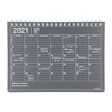 【2021年1月始まり】 マークス(MARKS) ノートブックカレンダー B6変型 マンスリー 21WDR-NB2-BK ブラック 月曜始まり