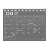 【2022年1月始まり】 マークス(MARKS) ノートブックカレンダー・M マンスリー 変型B5 カレンダー 22WDR-NB1-BK ブラック 月曜始まり│手帳・日記帳 ダイアリー