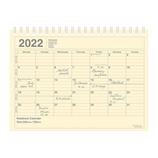 【2022年1月始まり】 マークス(MARKS) ノートブックカレンダー・S 変型B6 カレンダー 22WDR-NB2-IV アイボリー 月曜始まり│手帳・日記帳 ダイアリー