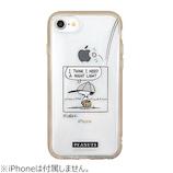 【iPhone8/7/6s/6/SE(第2世代)】 グルマンディーズ イーフィット クリア ピーナッツ SNG-478B ベースボール│携帯・スマホケース iPhoneケース