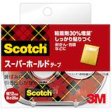 3M スコッチ スーパーホールドテープ 700-1-12D 12mm×20m│ガムテープ・粘着テープ 透明テープ