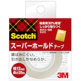 3M スコッチ スーパーホールドテープ 詰替用 700-1-12C 12mm×20m│ガムテープ・粘着テープ 透明テープ