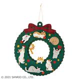 【クリスマス】サンリオ ネコリース 087351│カード・ポストカード クリスマスカード