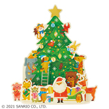 【クリスマス】サンリオ ツリーの周りにサンタと動物 088889│カード・ポストカード クリスマスカード