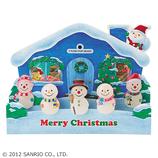 【クリスマス】サンリオ 家の前にスノーマン 092959│カード・ポストカード クリスマスカード