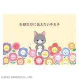 サンリオ 花畑の中にネコ 428418│カード・ポストカード バースデー・誕生日カード