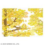サンリオ(SANRIO) 二つ折りポップアップカード イチョウの枝にリス 887358│カード・ポストカード グリーティングカード