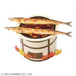 サンリオ(SANRIO) 立体ダイカットカード 七輪にサンマ 887650│カード・ポストカード グリーティングカード