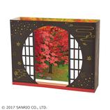 サンリオ(SANRIO) 立体レーザーカットカード 丸窓に紅葉 887871│カード・ポストカード グリーティングカード