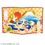サンリオ(SANRIO) 金びょうぶに鶴と亀 972410│カード・ポストカード グリーティングカード