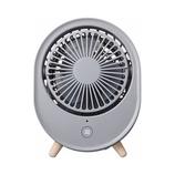 ピエリア(PiERIA) アイスパック付充電式デスクファン  CFW−83BGY グレー│生活家電 扇風機